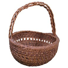 Siletz Open Work Basket, Double Handle, c.1900
