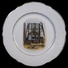 "c.1900 Butte, Montana Mining Plate, ""Going on Shift"", Davis & Weimescary Co."