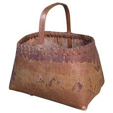 c. 1900 Birch Bark Basket, Eastern Woodland, Native American