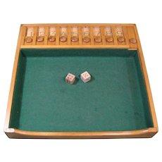 """1950s Dice Game """"SHUT BOX"""", Bemis Mfg., Sheboygan Falls, Wisc."""