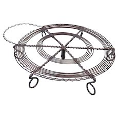 Old Wireware Trivet, or Teapot Stand, or Coffee Pot Stand, 7-legged