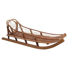 Vintage Eskimo Sled Model, Handmade, 16 3/4 Inches Long