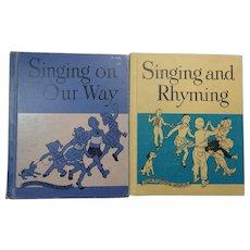 2 Vintage Children's School Music Books Ginn and Co. 1949 & 1950