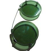 Vintage Green Plastic Deco Clip-On Sunglasses