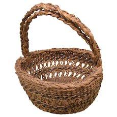 "Small Siletz Open Work Basket, Early 1900s, 8""h, 7""d"