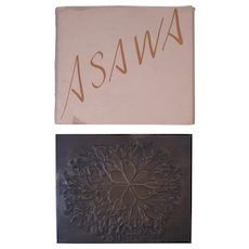 Ruth Asawa Bronze Casting with Original Folder, Stylized Tree, Signed & Numbered