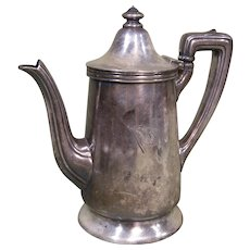 1930s American Export Lines Coffee Pot, Reed & Barton Silverplate