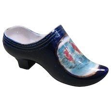 "Circa 1900 Ceramic Souvenir Shoe, ""A Jolly Trio, Seaview Wash."""