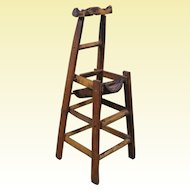 "Japanese Meiji Period Miniature Bamboo ""Chair"", 11 1/4"" Tall"