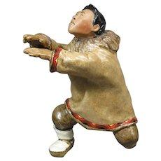 C. Alan Johnson Figurine, Eskimo Man, EETOOK Q8, c.1962