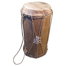 Early 1900s Log Drum, Zoque Peoples, State of Chiapas, Mexico