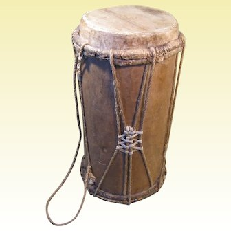 Early 1900s Drum, Zoque Indigenous People, State of Chiapas, Mexico