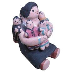Native American Navajo Pottery Storyteller by Lavina Yazzie