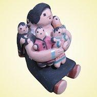Navajo Pottery Storyteller by Lavina Yazzie