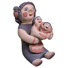 "Jemez Pueblo Storyteller, Felicia Fragua, 2 3/4"" tall"