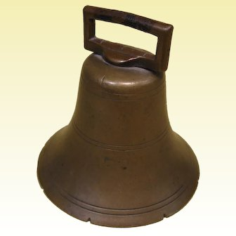 Early 19th Century Brass Cow Bell