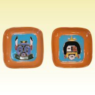 Two 1950s Gila Pottery Dishes, Hopi Kachina Masks, McKusick, Tucson