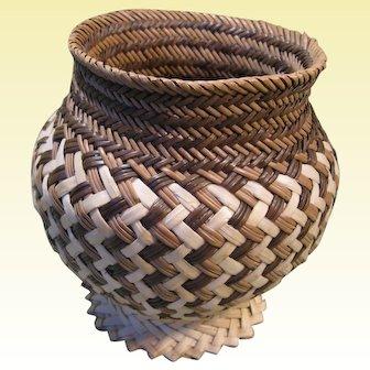 Vintage Tarahumara Native American Basket, Copper Canyon, Chihuahua Mexico