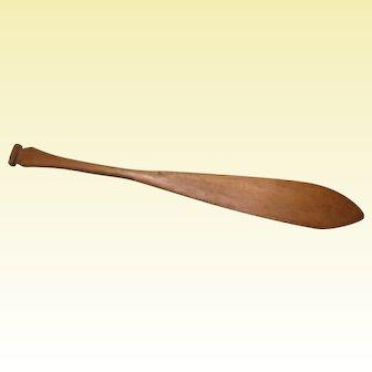"""Northwest Coast Model Canoe Paddle, Hand-carved, 14 1/2"""" Long"""
