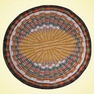 Vintage Hopi Pueblo Wicker Basket Plaque