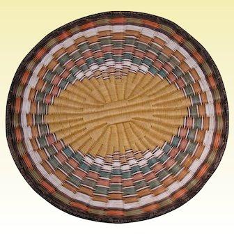 Vintage Hopi Wicker Basket Plaque