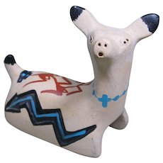 Jemez Pueblo Pottery Deer by Clifford Vigil, Signed