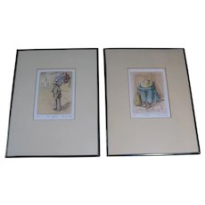 """Two Signed Artist Proof Etchings by Riva Wolf - """"Los Globos"""" and """"Siesta"""""""