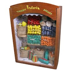 Vintage Mexican Diorama, Fruteria - Fruit and Vegetable Store