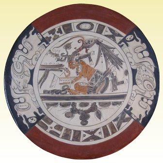 Contemporary Mayan Plate by Mayan Artist Patricia Martín