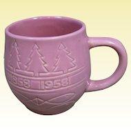Rosemeade Pottery 1958 Minnesota Centennial Pink Mug, Ada Minnesota Souvenir
