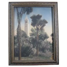 Circa 1930 Photo of Sather Tower (The Campanile), UC Berkeley, Framed