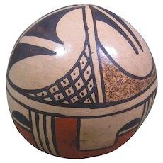 """Vintage Hopi Pottery Rattle, Signed """"Neva Reyna - 1st Mesa"""""""