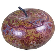 Vintage Olinalá Guerrero Mexico Lacquerware and Painted Gourd