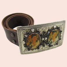 Frida Kahlo Belt Buckle & Belt, by VSA Designs (Virgins, Saints, & Angels)