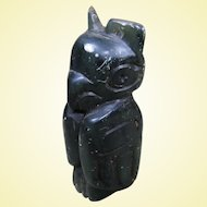 "Small Green Stone Totem, Northwest Coast, 3 1/2"" tall"