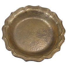 18th or 19th Century Cast Brass Bowl with Wavy Edge