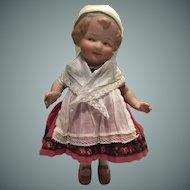 Gorgeous Heubach Character 'Coquette' All Bisque Doll,  9 inches