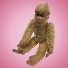 A Small English Alpha Farnell World War I Soldier ( teddy bear) Monkey, Chimp, 6 inches