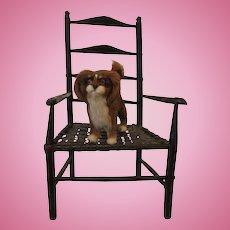Lovely Spaniel Fur Dog for your Dolls Knee