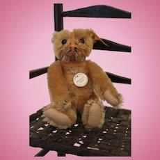 Steiff Cinnamon Mohair Muzzle Bear, Historic Labeled Replica, 6 inches