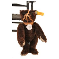 Steiff Brown Mohair Muzzle Bear, Historic Labeled Replica, 6 inches