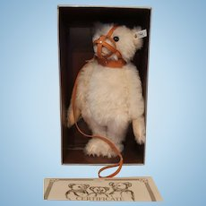 Steiff Replica 1908 Muzzle White Mohair Teddy Bear, Mint in Box