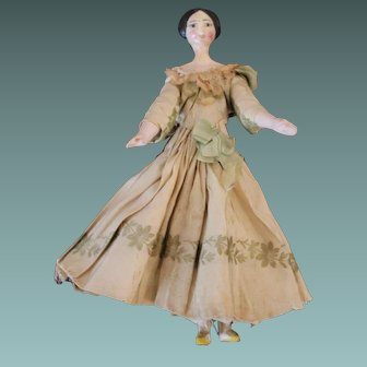 Small Early Wooden Doll, 6 1/2 inches