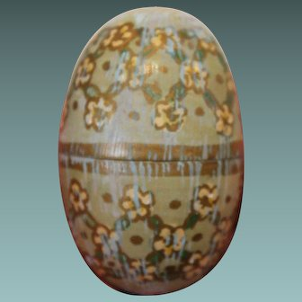 Antique Turned Wooden Egg
