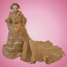 French Fashion Doll All Original Bride Doll, 12 inches