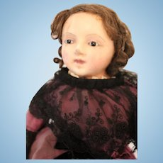 Large Wax Over Child Doll, 27 inches