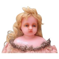Darling Pierotti Poured Wax Fairy Doll, c. 1880's
