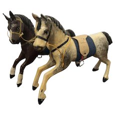 Pair of Miniature Galloping Toy Horses, 3 1/2""
