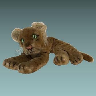 Junglowe Steiff Young Lion Cub, c1950's
