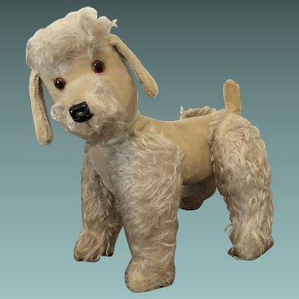 Vintage Jointed Mohair Poodle